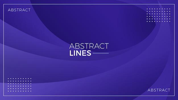 Fond de lignes abstraites ondulées