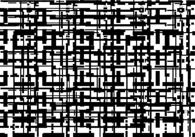 Fond de lignes abstraites de technologie isolé
