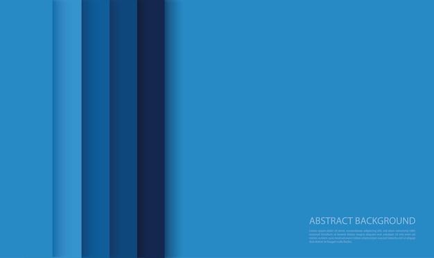 Fond de lignes bleues modernes