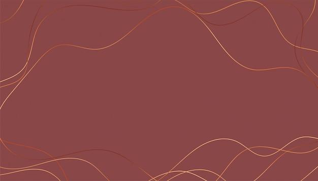 Fond de lignes brillantes dorées ondulées élégantes