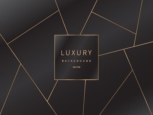 Fond de lignes dorées de luxe.