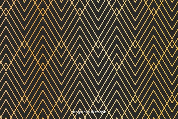 Fond de lignes dorées