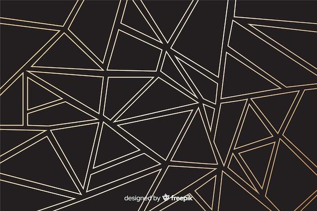 Fond de lignes droites dorées