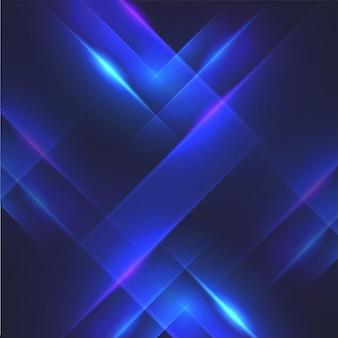 Fond de lignes dynamiques effet de lumière bleue abstraite.