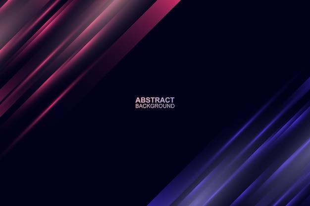 Fond de lignes de lumière rouge et violet technologie abstraite illustration vectorielle