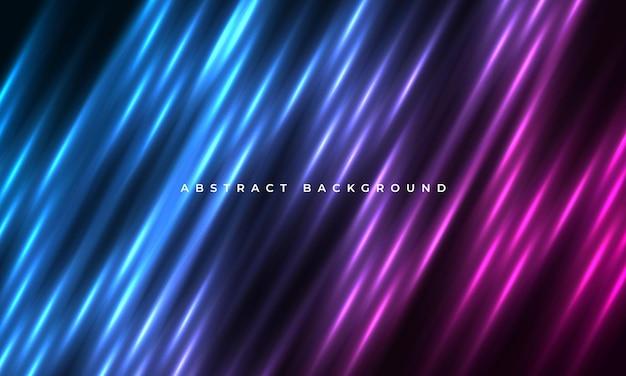 Fond de lignes de mouvement abstrait néon rose et bleu