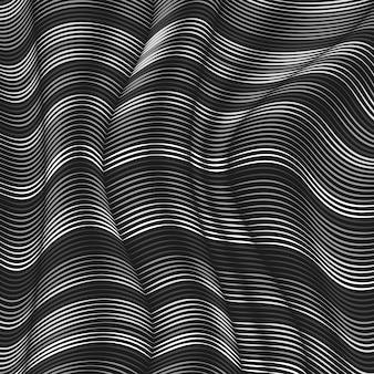 Fond de lignes ondulées grises