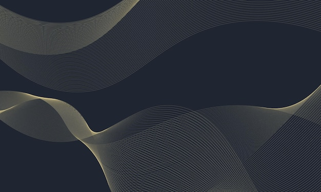 Fond de lignes ondulées or moderne. conception intelligente pour votre travail.