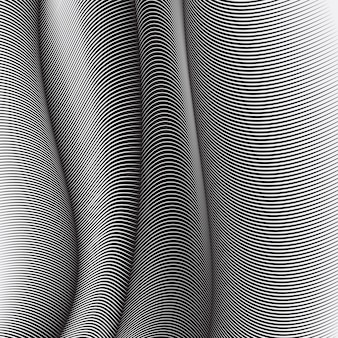 Fond de lignes ondulées