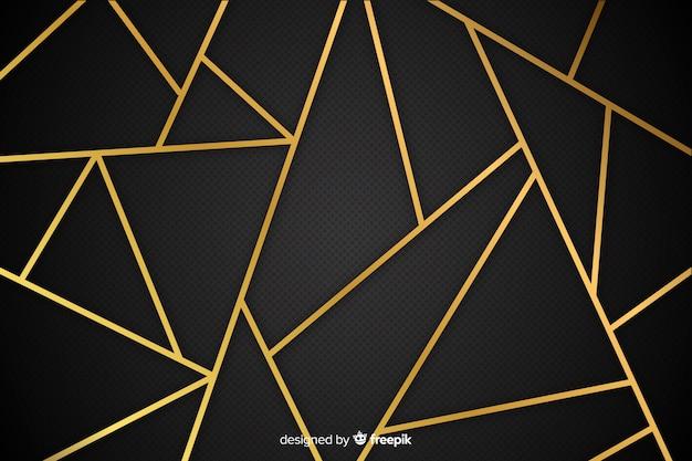 Fond de lignes d'or