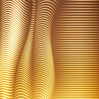 Fond de lignes en pointillés déformés