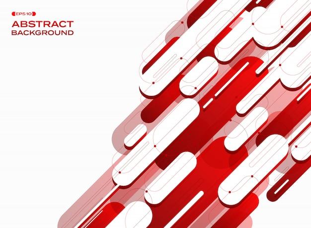 Fond de lignes rouges dégradé technologie futuriste.