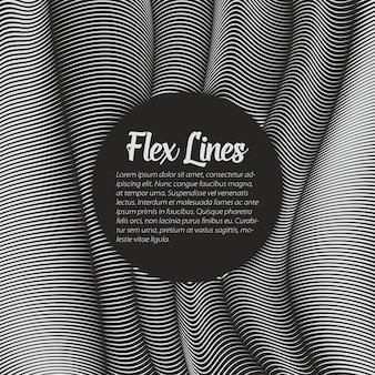 Fond de lignes voilées