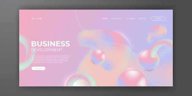 Fond liquide abstrait à la mode pour la conception de votre page de destination. arrière-plan minimal pour les conceptions de sites web