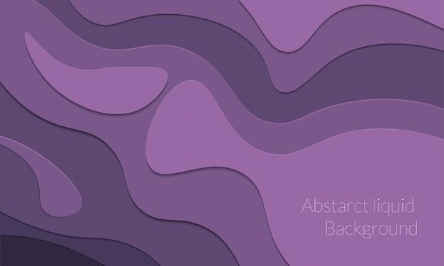 Fond liquide abstrait papercut