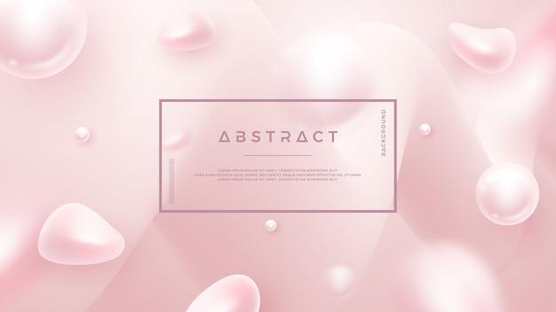 Fond liquide abstrait rose clair pour des affiches cosmétiques, des bannières et autres.