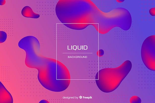 Fond liquide bicolore dégradé