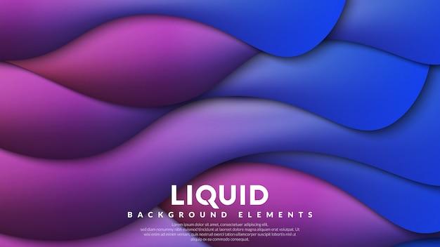Fond liquide coloré