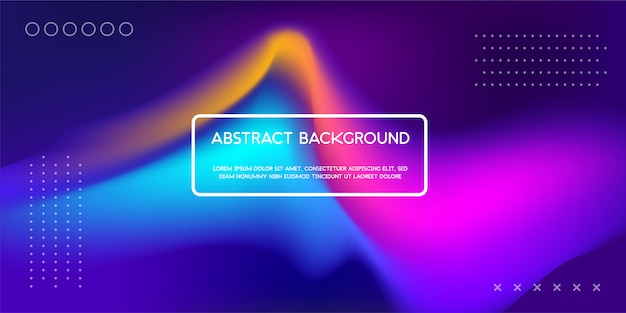 Fond liquide dynamique coloré pour la page de renvoi web