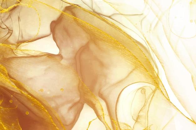 Fond liquide élégant doré