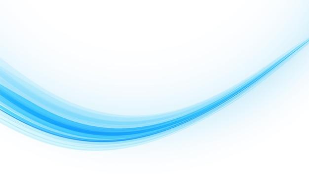 Fond lisse abstrait vague bleue