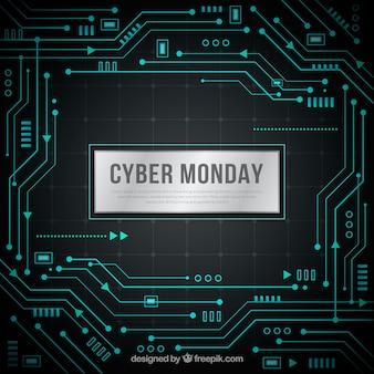 Fond de logiciel cyber lundi