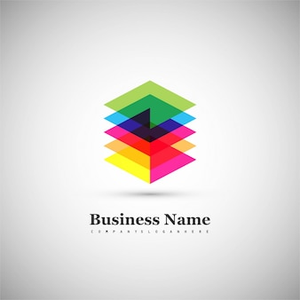 Fond de logo coloré moderne