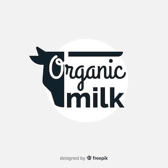 Fond logo lait bio