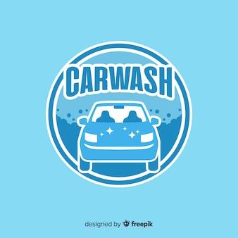 Fond de logo de lavage de voiture dessiné à la main
