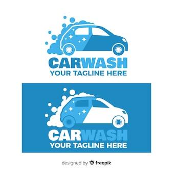 Fond de logo de lavage de voiture