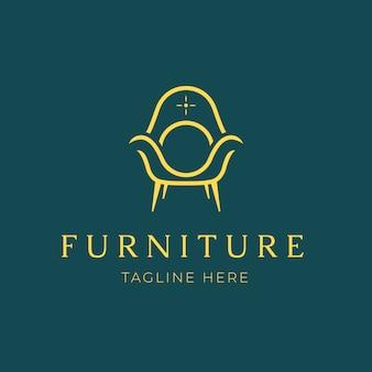 Fond de logo de meubles élégants