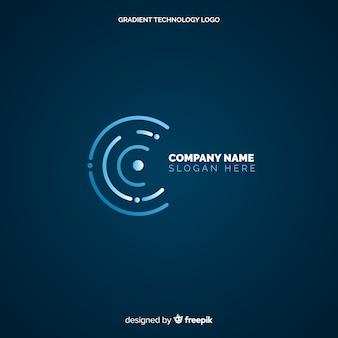 Fond de logo de technologie