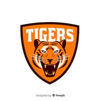 Fond de logo de tigre