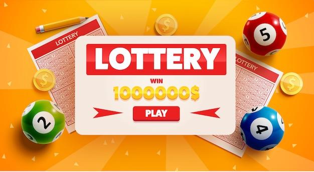 Fond de loterie avec place pour le texte