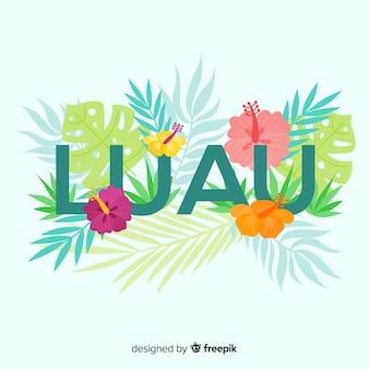 Fond de luau floral hawaïen