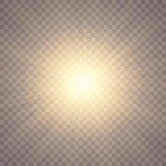 Fond de lumière du soleil. effets de lumière luminescente. éblouissement du soleil.