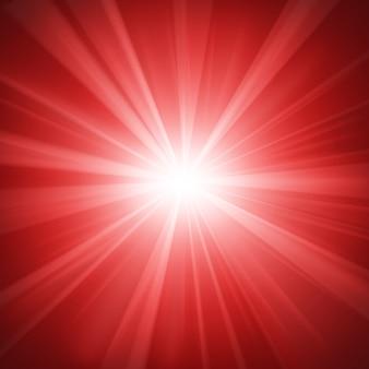 Fond de lumière rouge éclairé