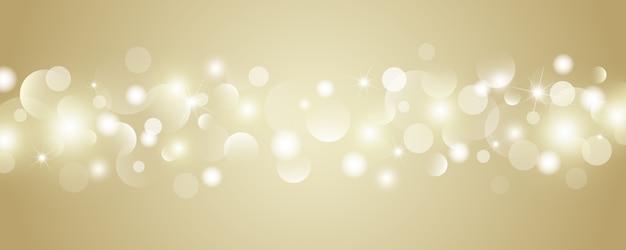 Fond de lumières abstrait bokeh or