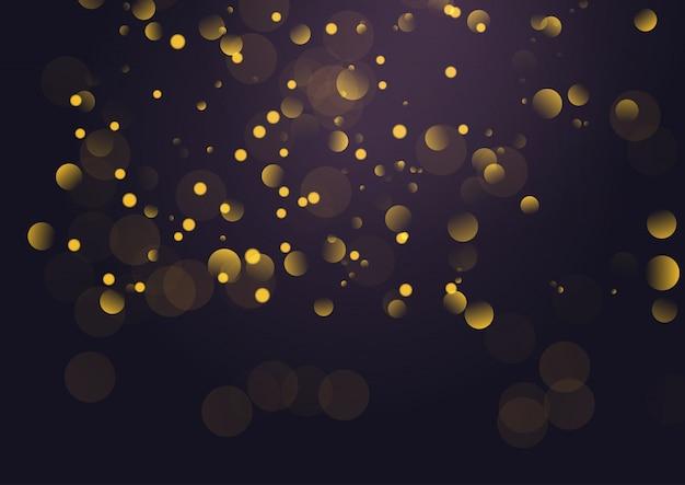 Fond de lumières bokeh doré