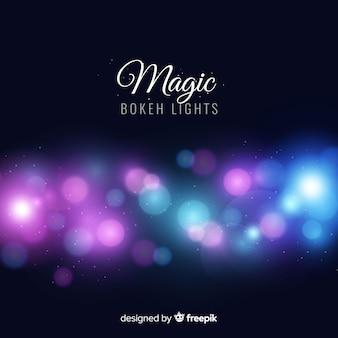 Fond de lumières de bokeh magique