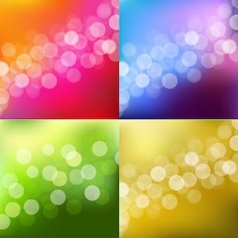 Fond de lumières de couleur avec bokeh.