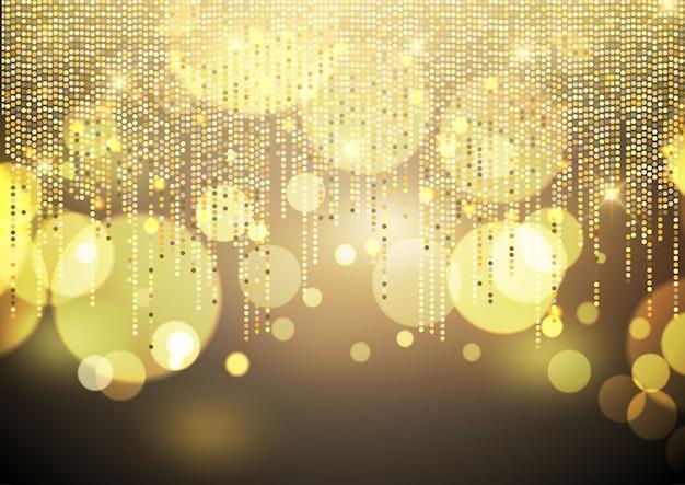 Fond de lumières dorées