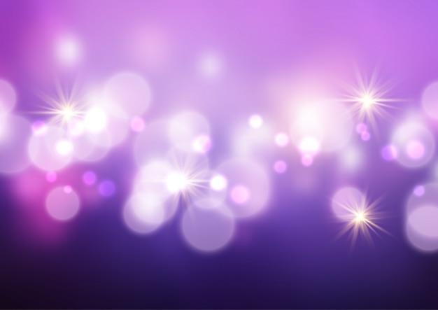 Fond de lumières et étoiles de bokeh