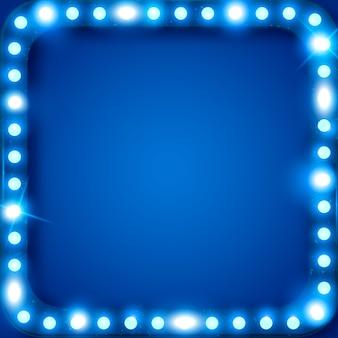 Fond de lumières led brillantes, néon de style rétro, publicité