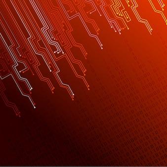 Fond de lumières rouges abstraites