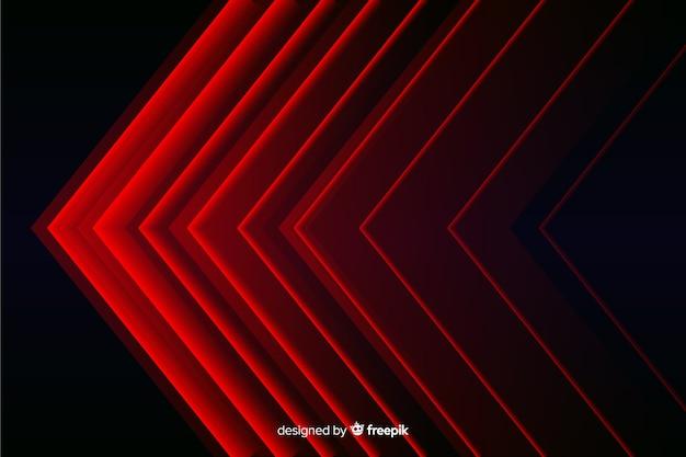Fond de lumières rouges géométriques modernes