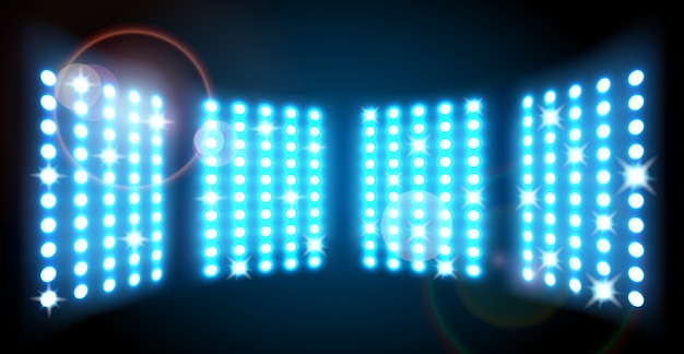 Fond de lumières de scène bleu