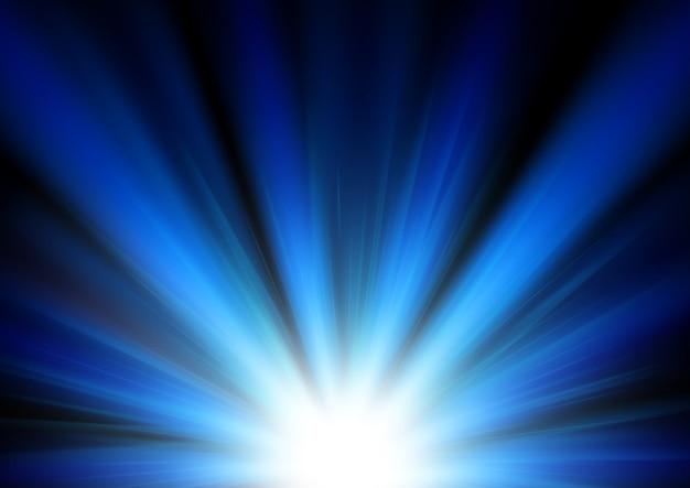 Fond lumineux bleu éclairé