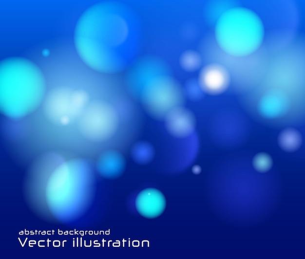 Fond lumineux bleu festif avec des lumières colorées bokeh lumineux flou scintille lumineux