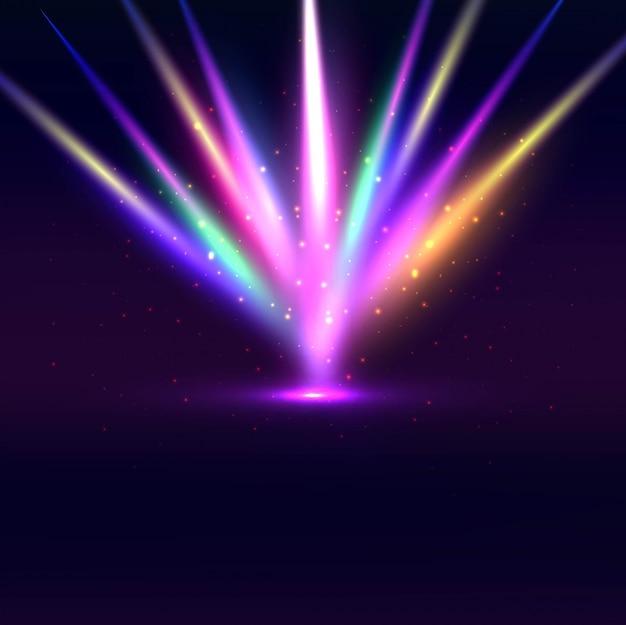 Fond lumineux coloré